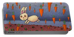 Raining Carrots Portable Battery Charger by James W Johnson