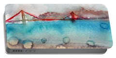 Rainy Day In San Francisco  Portable Battery Charger by Linda Woods