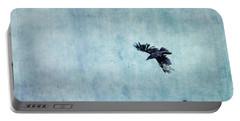 Ravens Flight Portable Battery Charger by Priska Wettstein