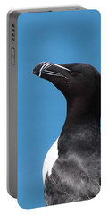 Razorbill Profile Portable Battery Charger by Bruce J Robinson