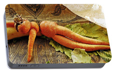 Reclining Nude Carrot Portable Battery Charger by Sarah Loft