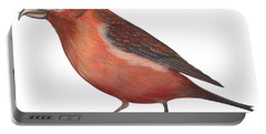 Red Crossbill Portable Battery Charger by Anonymous