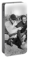 Red Grange And His Coach Portable Battery Charger by Underwood Archives