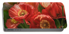 Red Ladies Of Summer Portable Battery Charger by Carol Cavalaris