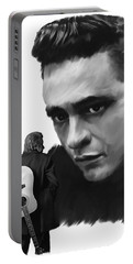 Redemption Jonny Cash Portable Battery Charger by Iconic Images Art Gallery David Pucciarelli
