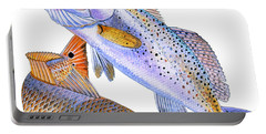 Redfish Trout Portable Battery Charger by Carey Chen