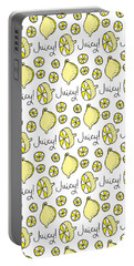 Repeat Prtin - Juicy Lemon Portable Battery Charger by Susan Claire