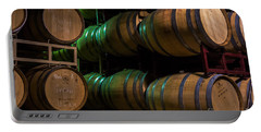 Resting Wine Barrels Portable Battery Charger by Iris Richardson