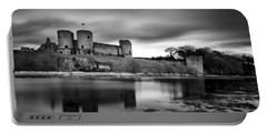 Rhuddlan Castle Portable Battery Charger by Dave Bowman