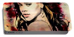 Rihanna Portable Battery Charger by Mark Ashkenazi