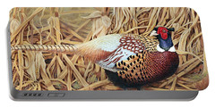 Ring-necked Pheasant Portable Battery Charger by Ken Everett