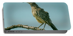 Roadrunner Out On A Limb Portable Battery Charger by Robert Frederick