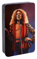 Robert Plant Of Led Zeppelin Portable Battery Charger by Paul Meijering