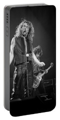 Robert Plant And Jimmy Page Portable Battery Charger by Timothy Bischoff