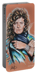 Robert Plant Portable Battery Charger by Melanie D