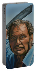 Robert Shaw In Jaws Portable Battery Charger by Paul Meijering