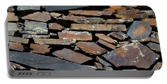 Portable Battery Charger featuring the photograph Rock Wall Of Slate by Bill Gabbert