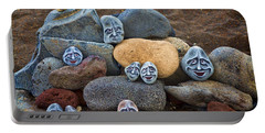 Rocky Faces In The Sand Portable Battery Charger by David Smith