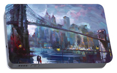 Romance By East River II Portable Battery Charger by Ylli Haruni
