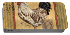 Rooster And Stripes Portable Battery Charger by Debbie DeWitt