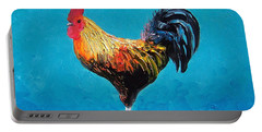Rooster Emanuel Portable Battery Charger by Jan Matson