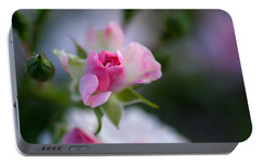 Rose Emergent Portable Battery Charger by Rona Black