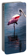 Roseate Spoonbill Portable Battery Charger by Karen Wiles