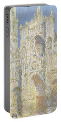 Rouen Cathedral West Facade Portable Battery Charger by Claude Monet