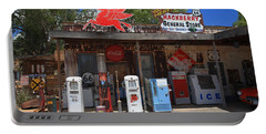 Route 66 - Hackberry General Store Portable Battery Charger by Frank Romeo