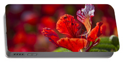 Royal Poinciana - Flamboyant - Delonix Regia Portable Battery Charger by Sharon Mau