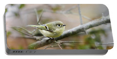 Ruby-crowned Kinglet Portable Battery Charger by Christina Rollo
