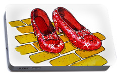 Ruby Slippers The Wizard Of Oz  Portable Battery Charger by Irina Sztukowski