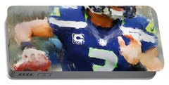 Russell Wilson Portable Battery Charger by Lourry Legarde