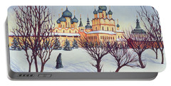 Russian Winter Portable Battery Charger by Tilly Willis