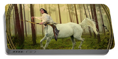 Sagittarius Portable Battery Charger by Linda Lees