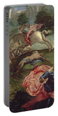 Saint George And The Dragon  Portable Battery Charger by Jacopo Robusti Tintoretto