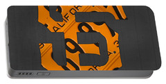 San Francisco Giants Baseball Vintage Logo License Plate Art Portable Battery Charger by Design Turnpike