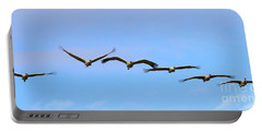 Sandhill Crane Flight Pattern Portable Battery Charger by Mike Dawson