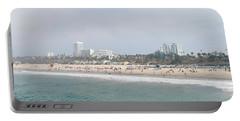Santa Monica Beach, Santa Monica, Los Portable Battery Charger by Panoramic Images