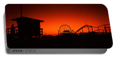 Santa Monica Pier, Santa Monica Beach Portable Battery Charger by Panoramic Images