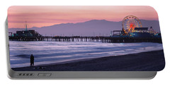 Santa Monica Pier Santa Monica Ca Portable Battery Charger by Panoramic Images