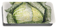 Savoy Cabbage  Portable Battery Charger by Alison Cooper