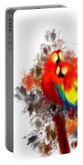 Scarlet Macaw Portable Battery Charger by Lourry Legarde