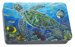 Sea Friends Portable Battery Charger by Danielle  Perry