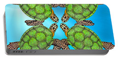 Sea Turtles Portable Battery Charger by Betsy Knapp