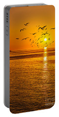 Seaside Birds Portable Battery Charger by Svetlana Sewell