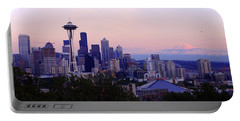 Seattle Dawning Portable Battery Charger by Chad Dutson