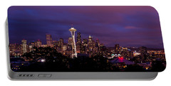 Seattle Night Portable Battery Charger by Chad Dutson
