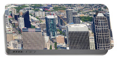 Seattle Skylines From The Columbia Portable Battery Charger by Panoramic Images