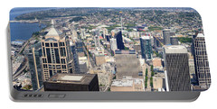 Seattle Skyscrapers At Waterfront, King Portable Battery Charger by Panoramic Images